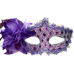 🧟‍♀️Purple GOTHIC MASQUERADE EYE MASK *NWT*🧟‍♀️